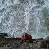 Climbing on sea cliffs