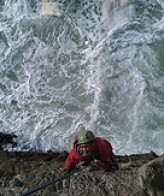 Climbing on sea cliffs